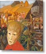 Sergei Esenin 1895-1925 As A Youth, Boris Grigoriev Metal Print