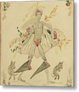 Sergei Vasilievich Chekhonin Russian 1878-1936 Character From An Eastern Fairytale Metal Print