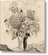 Sergey Vasilievich Chekhonin Russian 1878-1936 Flower Bouquet, 1935 Metal Print