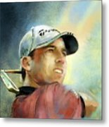 Sergio Garcia In The Castello Masters Metal Print