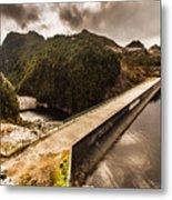 Serpentine River Crossing Metal Print