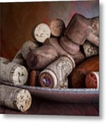 Served - Wine Taps And Corks Metal Print