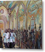 Service In San Fernando Cathedral Metal Print