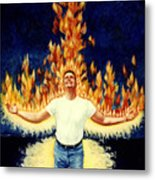 Set Aflame Metal Print