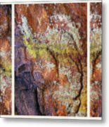 Set In Stone Triptych Metal Print
