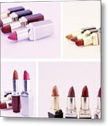 Set Of Lipsticks For Woman Beauty Metal Print