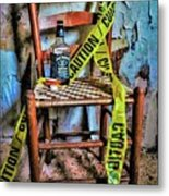 Set With Caution Metal Print