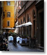 Setta Alley And Motorcycle Metal Print