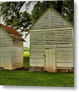 Setting Pen And Chicken Coop Metal Print