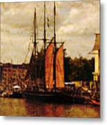 Setting Sail From Bristol Metal Print by Brian Roscorla