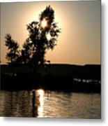 Setting Sun At Cypress Hills Metal Print