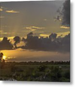 Setting Sun Before The Storm Metal Print