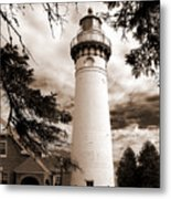 Seul Choix Point Lghthouse Mi Metal Print