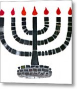 Seven-branched Temple Menorah Metal Print by Christine Till