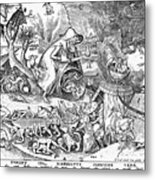 Seven Deadly Sins: Anger Metal Print