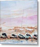 Seven Little Boats Metal Print