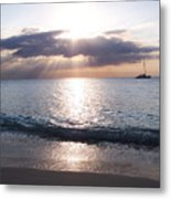 Seven Mile Beach Catamaran Sunset Grand Cayman Island Caribbean Metal Print