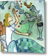 Seven Of Cups And Strange Dreams Metal Print