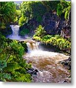 Seven Sacred Pools Maui Metal Print