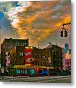 Seventh And Bleeker At Sunrise Nyc Metal Print