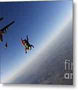 Several Military Freefall Parachutist Metal Print