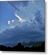 Severe Weather And Waxing Crescent Moon Metal Print