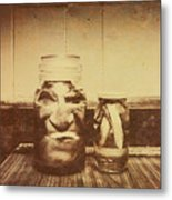 Severed And Preserved Head And Hand In Jars Metal Print