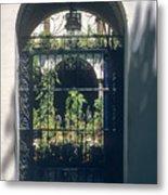 Seville City Courtyard Metal Print