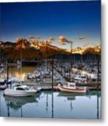 Seward Alaska Boat Marina Metal Print