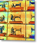 Sewing Machines Come To Life Metal Print