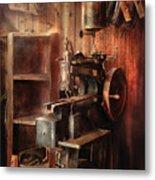 Sewing - Sewing Machine For Saddle Making Metal Print