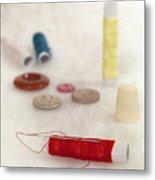 Sewing Supplies Metal Print