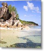 Seychelles Rocks Metal Print