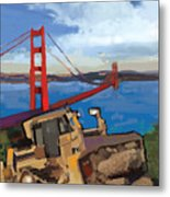 Sf And D9 Metal Print by Brad Burns
