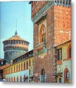 Sforza Castle Milan Italy Metal Print