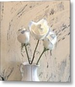 Shabbi Chic Roses Metal Print by Marsha Heiken