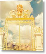 Shabby Chic Gold Gate Versailles Metal Print