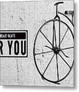 Shabby Chic, Old Bicycle No 01 Metal Print