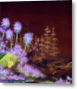 Shack In A Swamp Metal Print