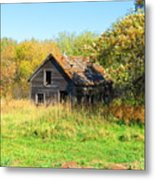 Shack In Fall Colours Metal Print