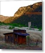 Shack In The Canyons Metal Print