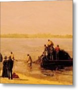Shad Fishing At Gloucester On The Delaware River 1881 Metal Print