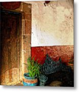 Shaded Entrance Metal Print