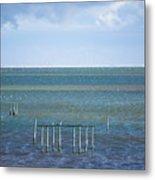 Shades Of Blue On The Horizon Metal Print