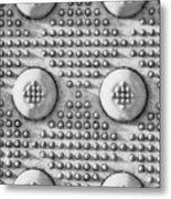 Shades Of Gray Dots Portrait Edition Metal Print