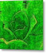 Shades Of Green Stained Glass Metal Print