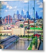 Shades Of Philadelphia Metal Print