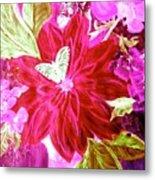 Shades Of Pink Flowers Metal Print