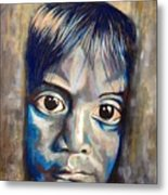 Shades Of Why, Sad Child Painting Metal Print