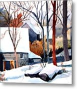 Shades Of Winter Metal Print